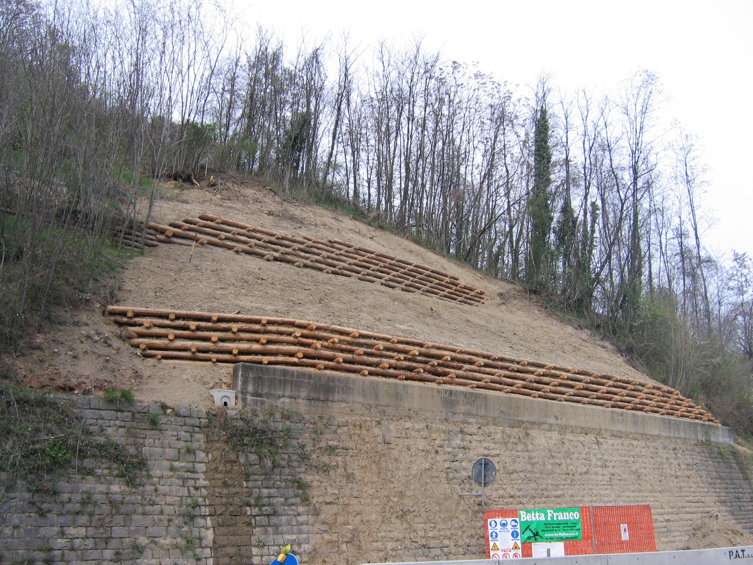 opere di ingegneria naturalistica arce e muri in legname